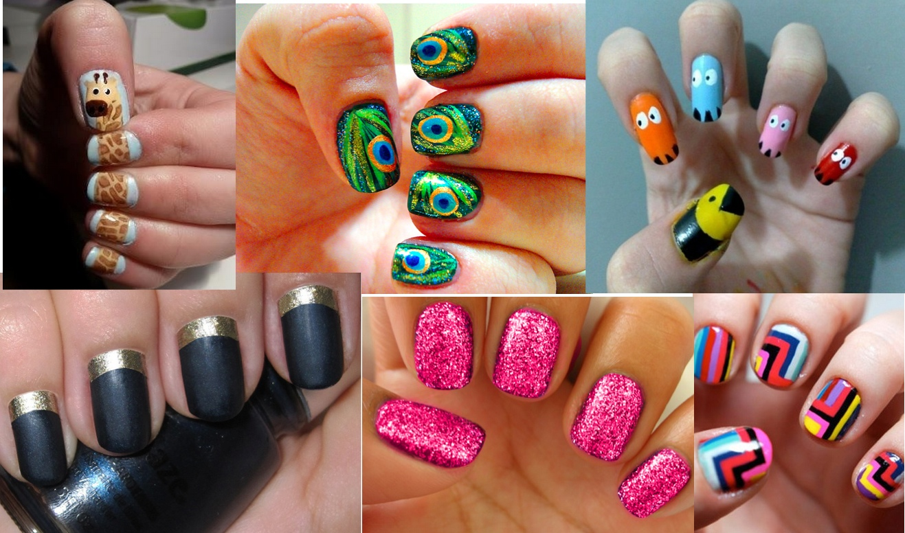 Nail Paint Art Gallery - easy nail designs for beginners step by step